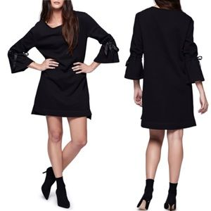 Sanctuary | Black Bow Bell Sleeve Sweatshirt Dress